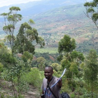 Patel Muiruri on a botanical expedition in Makueni County